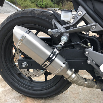 FLY5D Stainless Steel Motorcycle Exhaust Pipe Modification Allowable Pipe Diameter 36mm-51mm Fitts for All Vehicles Below 600CC
