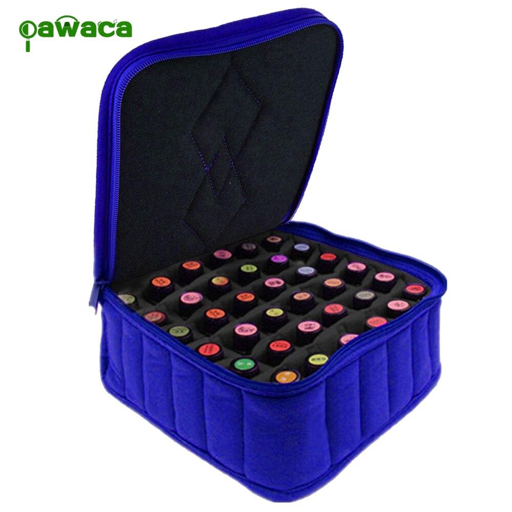 Pawaca New 30-Bottle Essential Oil Carrying Case Portable Storage Bottels Bags Travel Organizer Box Holds 5ml, 10ml, 15ml