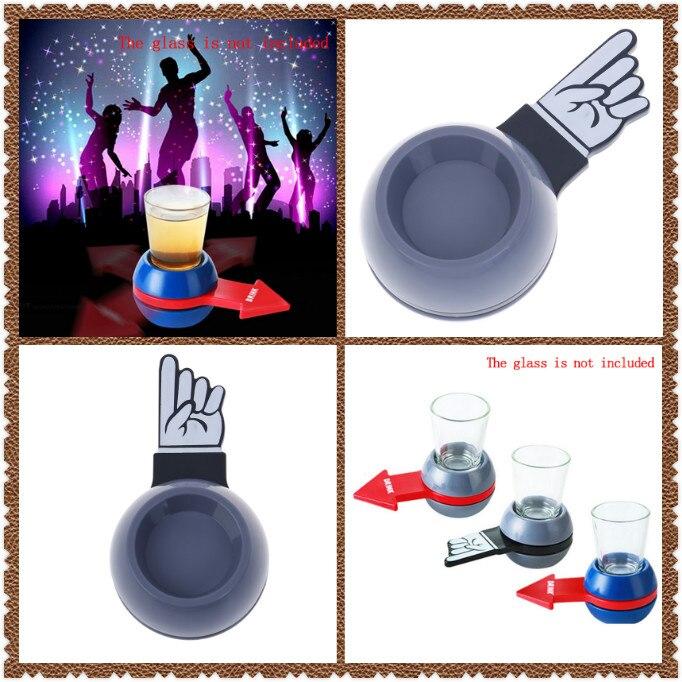 Jogo de roleta giratório, brinquedo giratório de plástico para beber, vidro de roleta giratório, festa em casa, brinquedos para adultos, novidade, beber, vidro jogo jogo tabuleiro