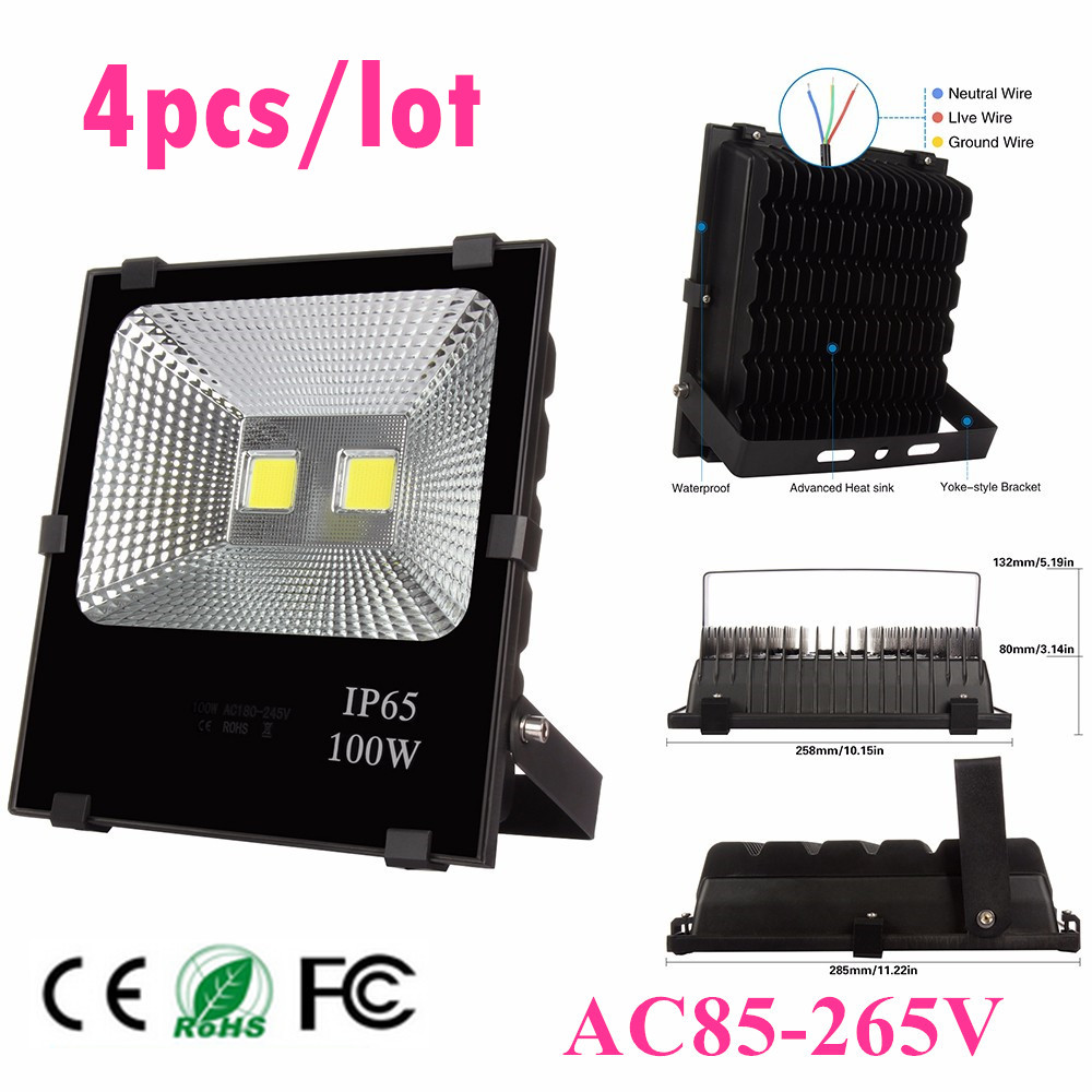 4pcs Wholesale 50W 100W 150W 200W Outdoor Led Flood light Warm/Cool White garden lamp AC85V-265V High Power Led Floodlight 4pcs Wholesale 50W 100W 150W 200W Outdoor Led Flood light Warm/Cool White garden lamp AC85V-265V High Power Led Floodlight