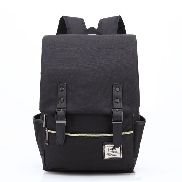 bfb237f77feb IUX Fashion Casual Canvas Backpack Unisex Men Vintage Canvas Backpack  Rucksack School Bags Satchel Men s Travel