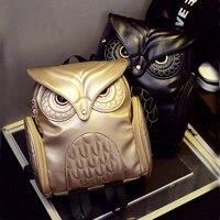 Newest X Feeling Fashion Gothic Design Women Backpacks Owl Stylish Cool Black Pu Leather Women Bags