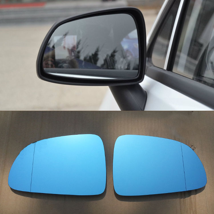 Savanini 2pcs New Power Heated w/Turn Signal Side View Mirror Blue Glasses For Chevrolet Sail