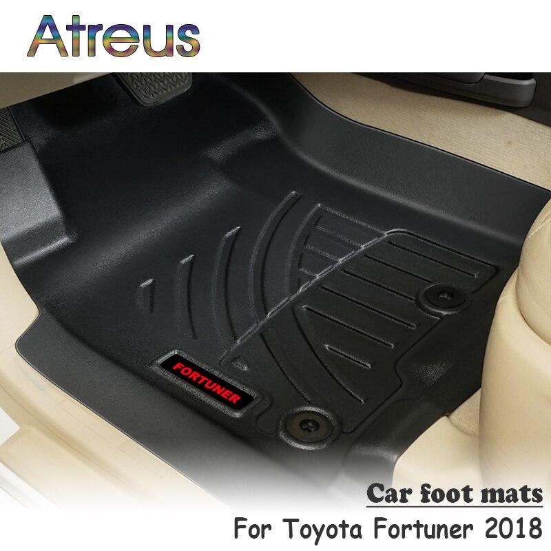 Atreu NOVO Conjunto 1 TPE Piso Mat Pé Do Carro Para Toyota Fortuner 2018-Car styling Acessórios Forro Bota Anti -Tapete de deslizamento À Prova D' Água