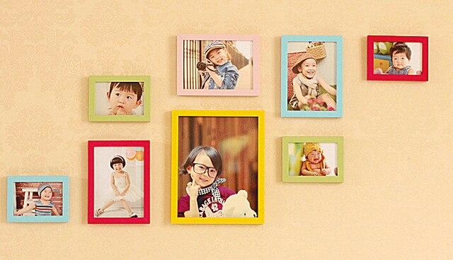 Online Shop wall photo frame set of 8pcs home decoration picture ...