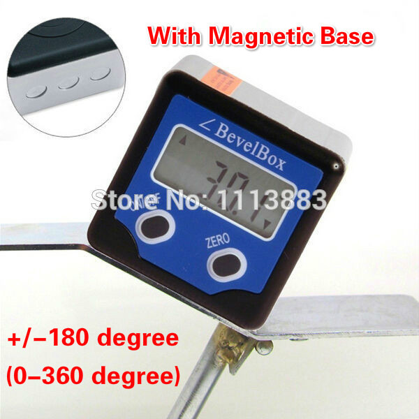 360 Degrees Mini Digital Bevel Box Gauge Inclinometer Meter Protractor Finder Angle Protractor With Magnets Base