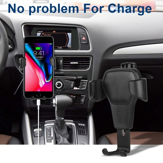 Universal Car Phone Holder Gravity Car Air Vent Mount In Car For Iphone X 8 Samsung Xiaomi One hand Operate Phone Stand Bracket 4