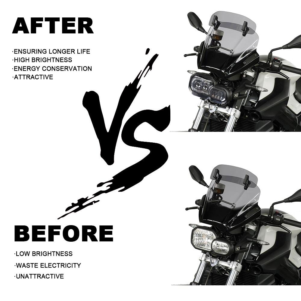 Phare de moto pour BMW F800GS F800R F700GS F650GS aventure motos complet projecteur LED phare - 3