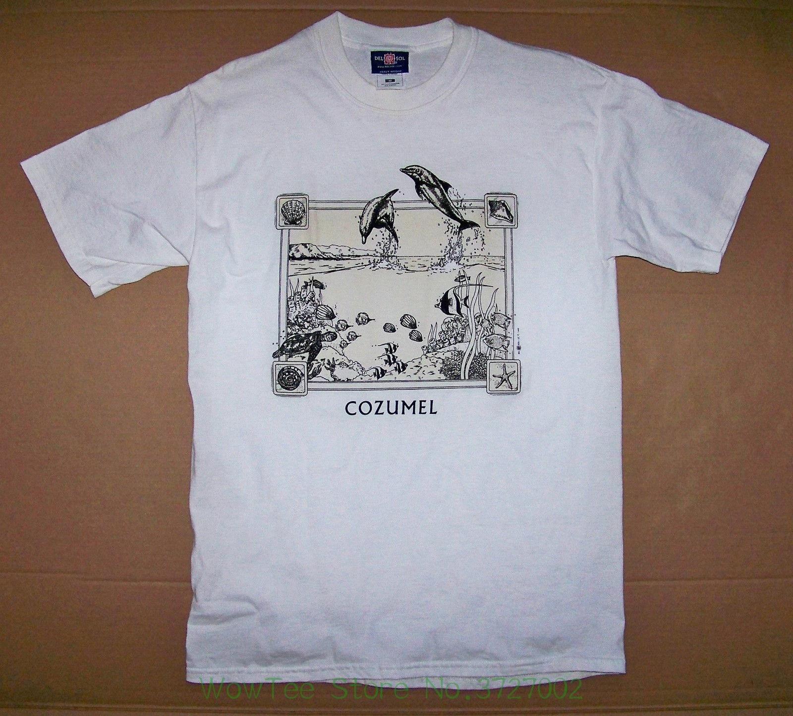 Cozumel / Mexico / Island / Caribbean Sea / 1999 / Seaworld / White T-shirt M Unisex Fashion T Shirt