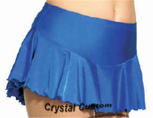 Hot Sales Custom Blue Figure Skating Skirt For Girls Elegant New Brand Vogue Ice Skating Dresses For Competition DQ2896