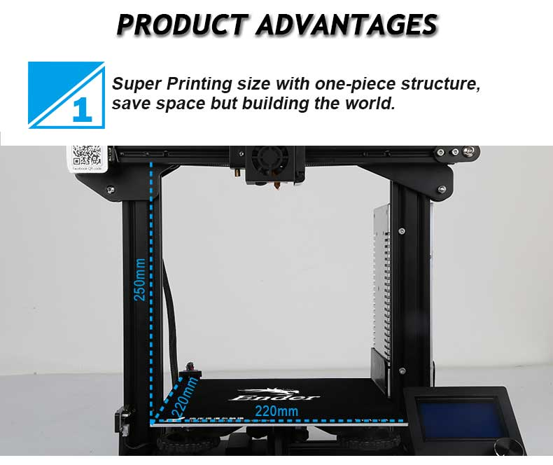 Ender-3X 3D printer With Large Size Magnetic Build Plate For Household Use