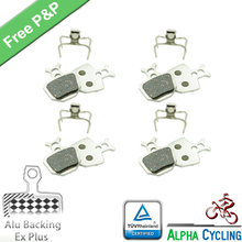 Bicycle Disc Brake Pads for FORMULA ORO K18 K24 PURO Brake, 2 Pairs, Ex Plus with Alu-Alloy Backing