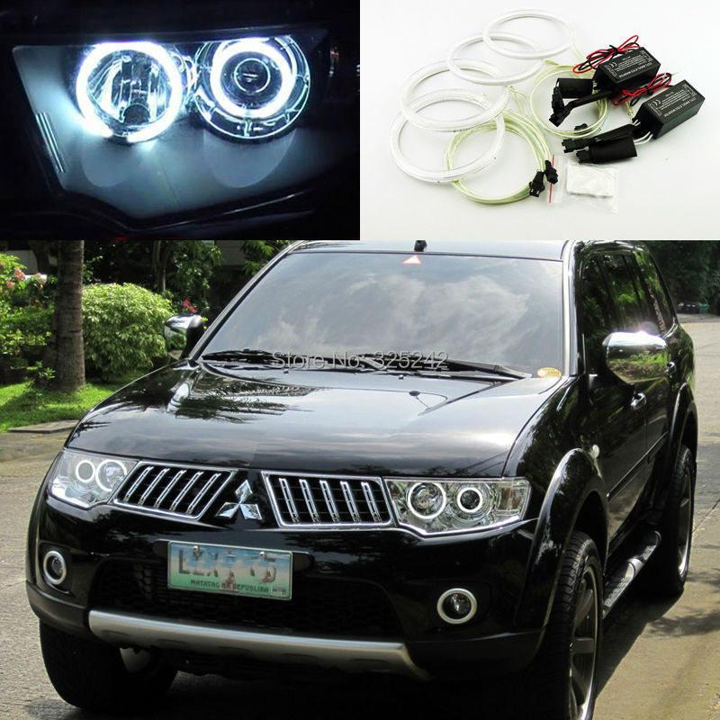 for mitsubishi montero sport 2009 2015 excellent ultra bright headlight illumination ccfl angel eyes kit