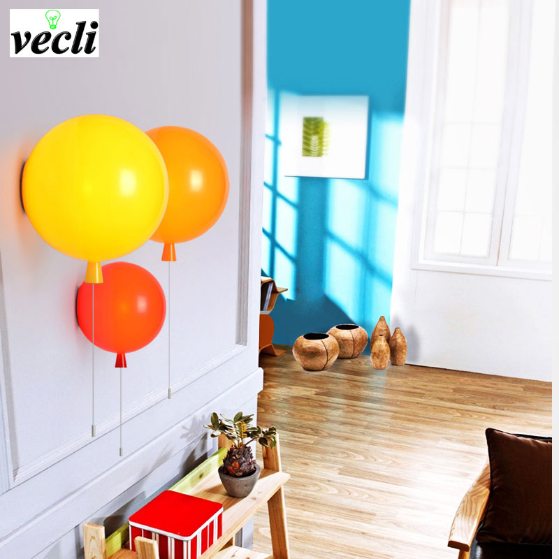 Colorful Balloon Wall Lamp, 20cm modern fashion Acrylic bedroom light, Kids Room  lamp balcony bedside wall sconce bra