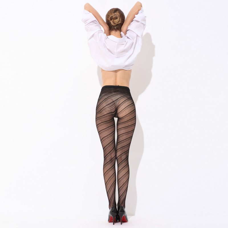 abd9e104d Sexy Women Pantyhose Stockings Black Solid Fishnet Mesh Tights Striped  Tattoo Net Thigh High Silk Stockings Pantyhose stockings-in Tights from  Underwear ...