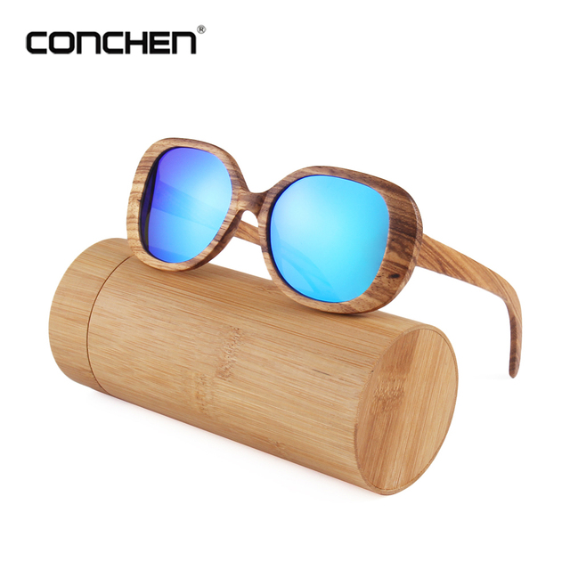 ec24303dfad CONCHEN New Fashionable Products Men Women Polarized Sunglasses Bamboo Sun glasses  Vintage Wood Lens Wooden Frame