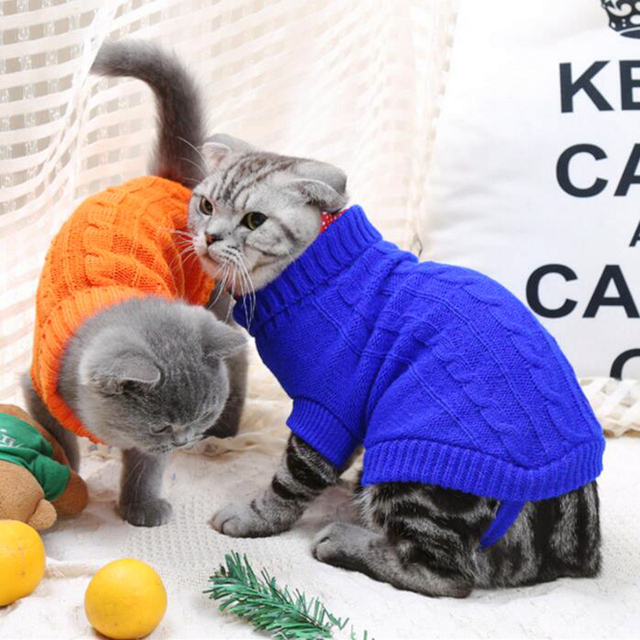 Stylish Knitted Sweater for Cats