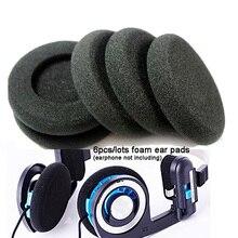 Venda quente 6 unidades/lotes substituição fone de ouvido almofadas almofadas esponja almofada espuma macia para koss porta pro pp px100 fones de ouvido