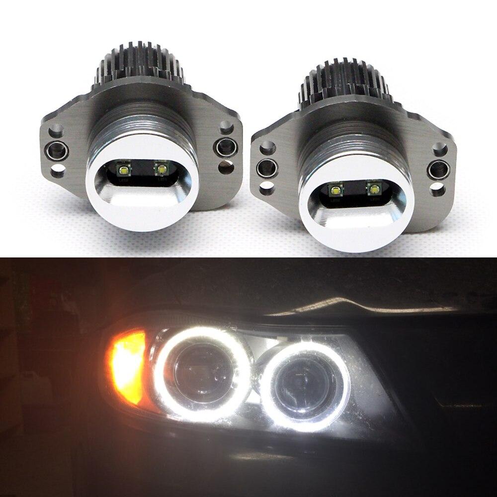 2017 Car led High Power Error Free CREE chips Auto Led lighting for BMW E90 E91 10W LED Angel Eyes Halo Ring Light Bulbs