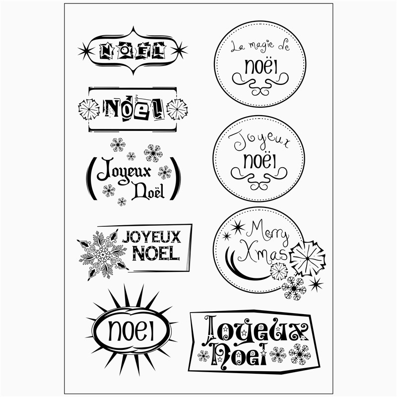 Spanish words Decorative Handmade Practical Clear Stamp ...