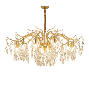 Image 5 - Modern Minimalist Chandelier Living Room Diningroom Light Creative Art Chandelier European Bedroom Gold Crystal Chandelier Light