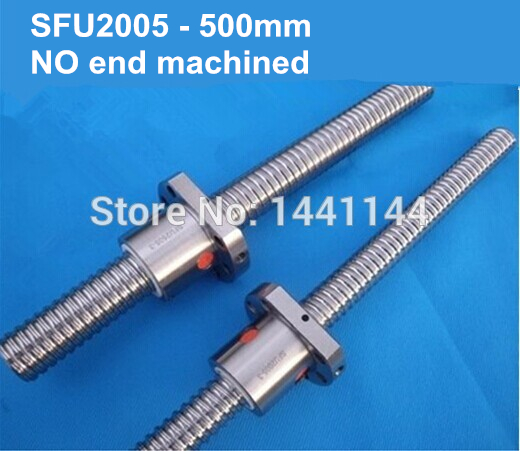 Rolled type ball screw SFU2005 -  500mm +one single nut, 3 circuits Screw pitch / lead 5mm ballscrews, ballnut for CNC router single electron devices and circuits design