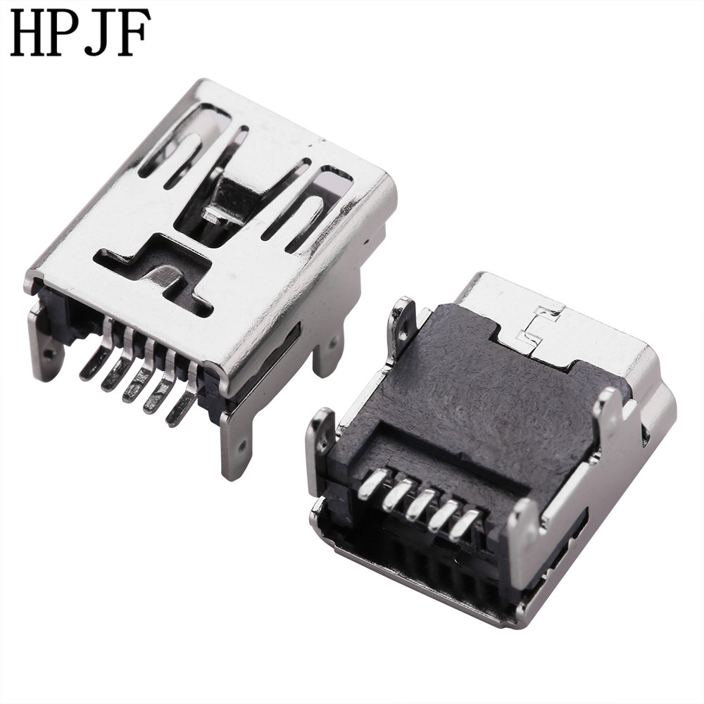 10pcs/lot <font><b>Mini</b></font> <font><b>USB</b></font> Type B Female 5 <font><b>Pin</b></font> SMT SMD PCB Socket <font><b>Connector</b></font> Four Feet Straight image