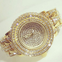 2019 Hot Sale Women Watches Lady Diamond Stone Dress Watch Gold Silver Stainless Steel Rhineston Wristwatch Female Crystal Watch