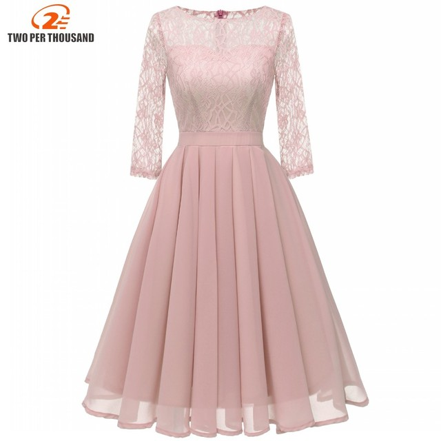 Christmas Pleated Chiffon Purple Lace Women Dresses Evening Party Stunning  Dress Fall 2019 Elegant Vintage Vestidos a415b6cf5916