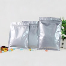 100pcs Aluminum Foil Packaging Bag Flat Zipper Plastic Zip lock Gift Bags For Jewelry/Wedding/Storage/Display Pouches Gifts
