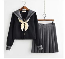50 個日本の制服少女かわいいロリータセーラー制服コスプレ衣装長袖シャツプリーツスカートセット フェデックス