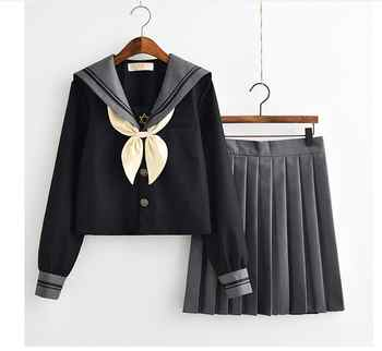 Japanese School Uniform For Girls Sweet Lolita Sailor Korean Uniforms Cosplay  Long Sleeve Shirt Pleated Skirt Student Set - DISCOUNT ITEM  12% OFF All Category