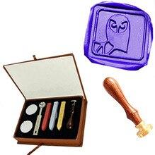 Owl On Custom Picture Logo Wedding Wax Seal Sealing Stamp Sticks Spoon Gift Box Set Kit Vintage