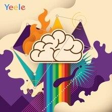 Yeele Cartoon Sun Rainbow Cloud Little Birthday Party Customized Photography Backdrops Photographic Backgrounds For Photo Studio
