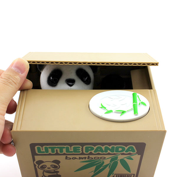 Panda Shape Nice Gift Stealing Coins Penny Cents Buck Saving Money Box Piggy Bank 1PC In Money