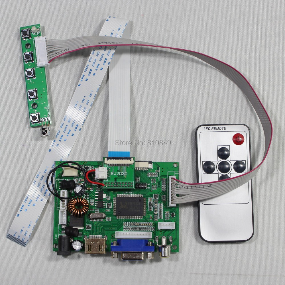HDMI+VGA+2AV LCD driver board for 7inch HSD070PWW1 1280*800 IPS lcd panel+Remote купить