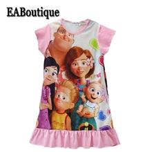 EABoutique New Multi Cartoon Designs Sleepwear Clothes For Girls Cotton Ruffle Bottom Children Girls Nightgown Dresses