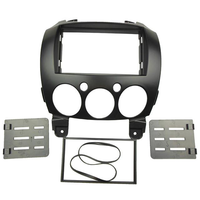 Double Din DVD Fascia Stereo Panel for MAZDA 2 Demio 2007+ Radio Refitting Dash Mounting Installation Trim Kit Face Frame
