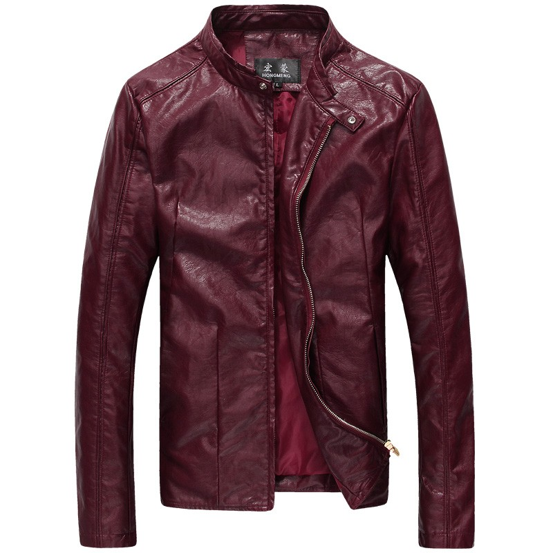 2016 Brand New Autumn Winter Men S Faux Leather Jacket Men Vintage