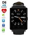 № 1 D6 1.63 дюймов 3 Г Smartwatch Телефон Android 5.1 MTK6580 Quad Core 1.3 ГГц GPS Wi-Fi Bluetooth 4.0 монитор Сердечного Ритма Смарт-Часы