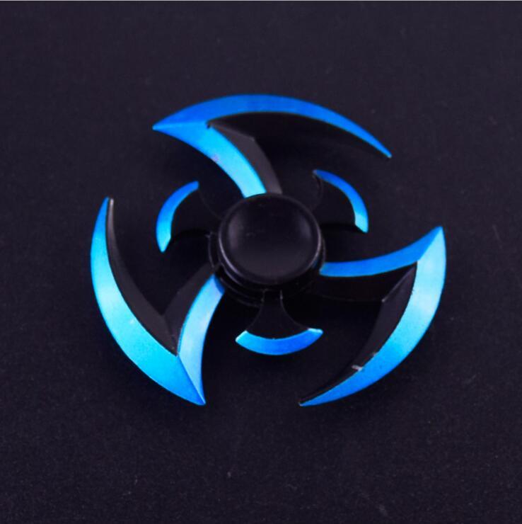Metal Fidget Spinner Naruto Finger Spinner Hot Wheels Tri Cross Metal Hand Fidget Ring Model EDC Stuffer For Kid/Adult Toys