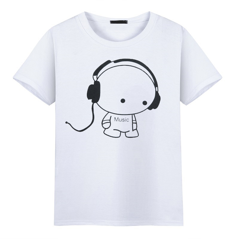 2017 fashion Comic Con Cosplay tshirt Summer Skateboard Headset Music Boy Skate O-Neck Printed Pattern Short Sleeve T-shirts