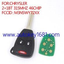 Автомобиль дистанционного ключа 2 + 1 кнопка 315 мГц для chrysler FCCID: M3N5WY72XX с 46 чип