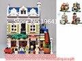 Nueva serie LEPIN 15010 Creadores el Restaurante Parisino Modelo Building Blocks Classic Compatible 10243 casa de juguete para niños