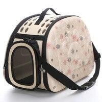 Pet Eva Dog Cat Travel Tote Handbag Folding Crate Cage Backpack Soft Carrier
