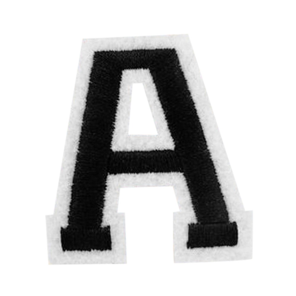 embroidered letter patches portable diy cloth 26 alphabet letter embroidered 21477