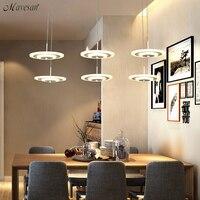 Модные Современные светодиодный подвесные светильники для Гостиная Обеденная Акрил светодиодный подвесные светильники дома современного