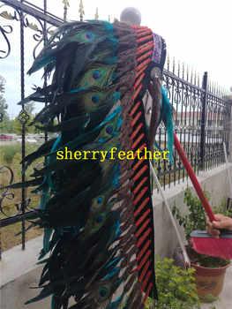 36 นิ้ว Turquoise Feather headdress handmade feather เครื่องแต่งกาย feather หมวก headpiece headband - SALE ITEM บ้านและสวน