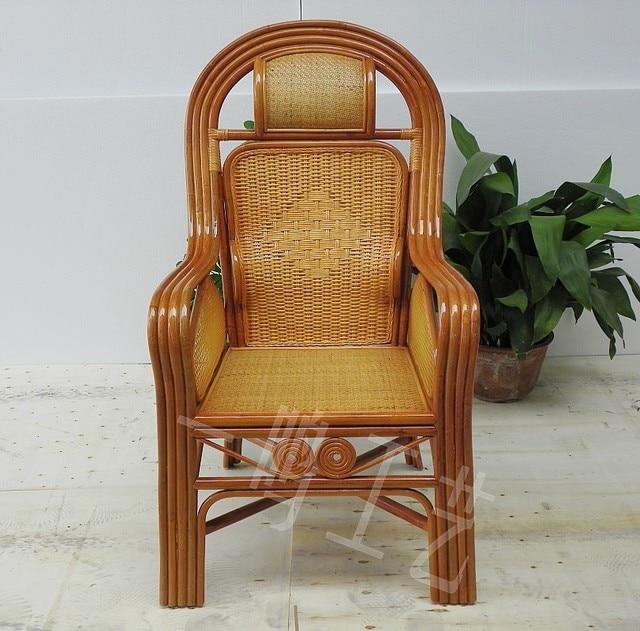 Lleno de mimbre silla de oficina silla de respaldo alto for Ocio muebles