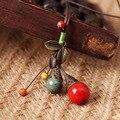 Boemia étnica jóias originais feitas à mão cerâmica do vintage colorido cerâmica beads choker declaração colar para as mulheres
